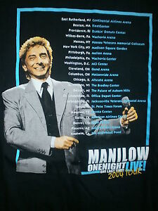 Barry Manilow One Last Time Tour T Shirt