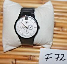 BEVERLY HILLS POLO CLUB CLASSIC MEN'S LEATHER STRAP WATCH F72