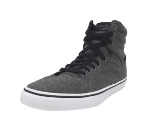 VANS-Paladin-Wool-Black-Gray-Hi-Top-Lace-Up-Athletic-Sneakers-Adult-Men-Shoes