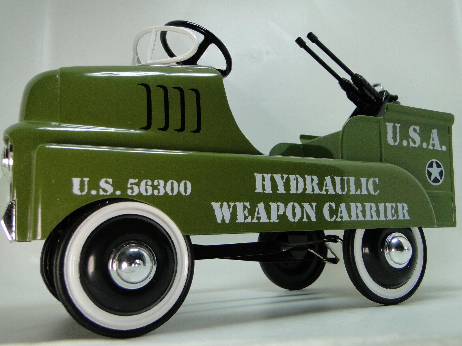 Auto A Pedal Camión Segunda Guerra Mundial avión Jeep del Ejército Militar Vintage Metal leer la descripción completa