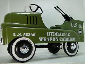 Pedal-Car-Army-Truck-WW2-Jeep-Military-Vintage-Anti-Plane-gt-READ-FULL-DESCRIPTION