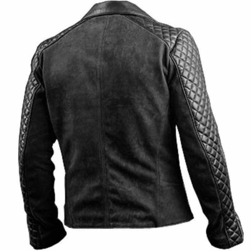 Men/'s Cafe Racer Stylish Biker Brown /& Black New Distressed Real Leather Jacket