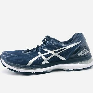 on sale 72338 7bd40 Details about Asics Gel Nimbus 19 Mens Size US 12M Running Shoes Silver  Blue T700Q