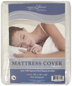 AmericanLinens-DUST-FREE-MATTRESS-COVER-ZIPPERED-ALL-SIZES-NON-ALLERGENIC-NEW