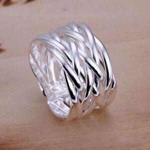 Silberring-Schlicht-Mehrreihig-Vintage-Breit-Ring-Silber-925-Verstellbar