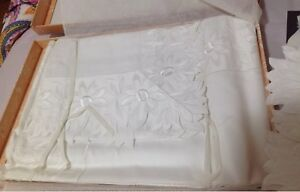 Details about Mastro Raphael Italy NWT 4pc King Sheet Set 100% Cotton  Embroidery Rare