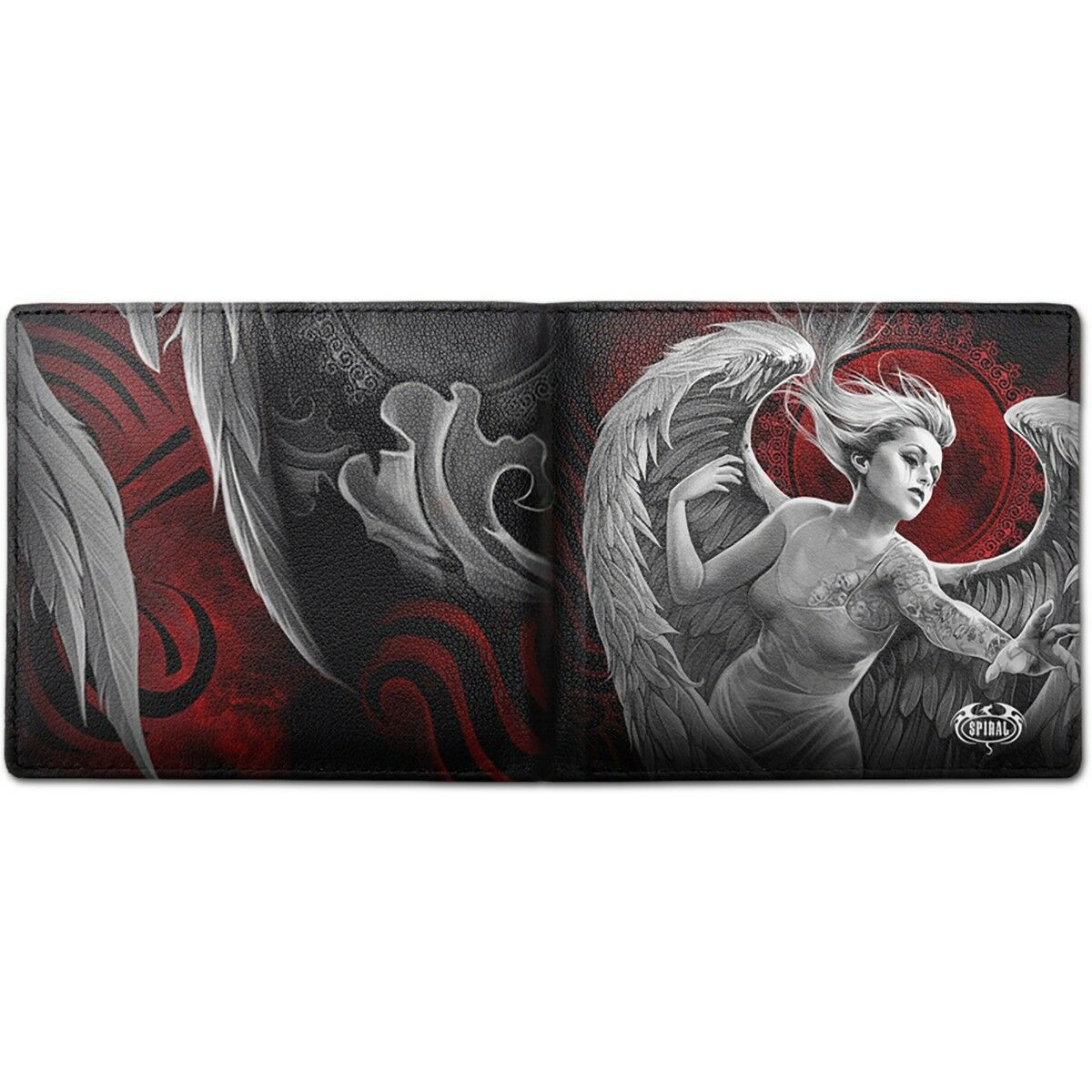 SPIRAL DIRECT ANGEL DESPAIR BIFOLD WALLET WITH RFID BLOCKING AND GIFT BOX/Native