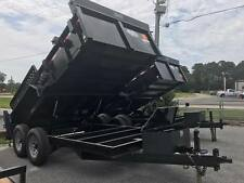"2017 BRAND NEW Forest River Dump Trailer 82""X14' w/ 2' Sides, 2 way Gates"