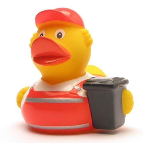 Un éboueur Canard Badeente-la Canard en caoutchouc-Quietscheente-grincer Canard-plastikente