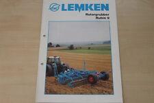 158090) Lemken Rotorgrubber Rubin 9 Prospekt 10/2002