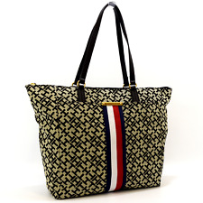 55b33f94c5 Tommy Hilfiger Women Black/alpaca Eve II Monogram Tote Bag Tax for ...