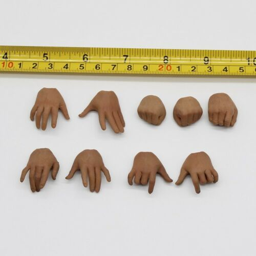 TC89-07 1//6 Soldier 9PCS Fat Nake Hand Shapes Model Asian Skin Color Action Toys