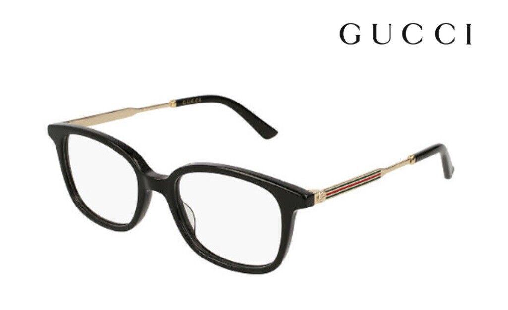 db1a182e66f Gucci Gg0202o 001 Black Plastic Rectangle Eyeglasses 50mm for sale ...