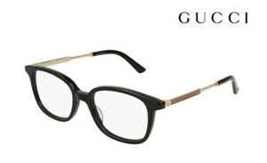 52305278717e Image is loading GUCCI-Glasses-Frames-GG0202O-001-Black-Gold-RRP-