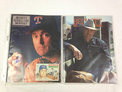 Nolan Ryan Beckett Baseball 2 Magazines Autographed Texas Rangers MLB No COA
