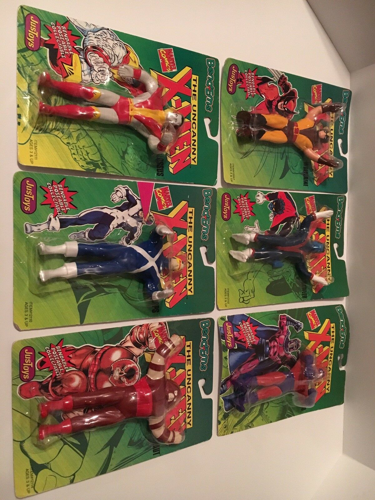 Just Toys Bend-ems, The Uncanny Uncanny Uncanny X Men Lot Of 6 Actiin Figures 8a26f2