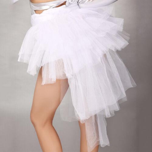 Lady Half Bustle Tulle Skirt Burlesque Petticoat Tutu Party Dress Clubwear
