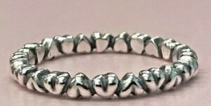 f3ee57a745c2f Details about PANDORA | STERLING SILVER FOREVER LOVE HEARTS RING *NEW*  190837 RARE RETIRED 925