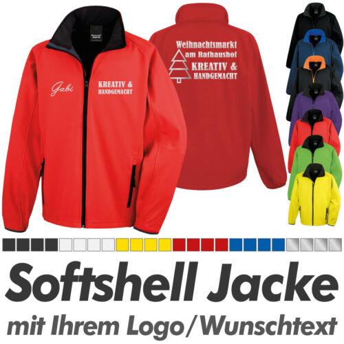 SOFTSHELL JACKE rot-schwarz Ihrem Wunschdruck Logo Druck Werbedruck inkl