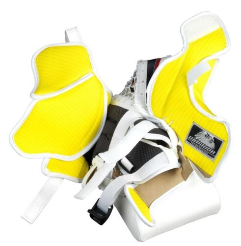 New Warrior Fortress Pro Sr goalie blocker//catcher ice hockey glove black//silver
