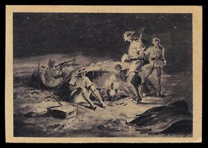 WW2 WWII Germany 3rd Reich Postcard German Hitler Army Soldier Feldpost Africa