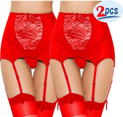 Sexy Frauen Hosenträger Wet Look Leder Strumpfband G-String Sock Halter Fastener