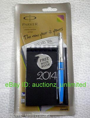 Parker Jotter Limited Edition CT Ball Pen Perpetual Calendar Cyan +Notes & Ideas