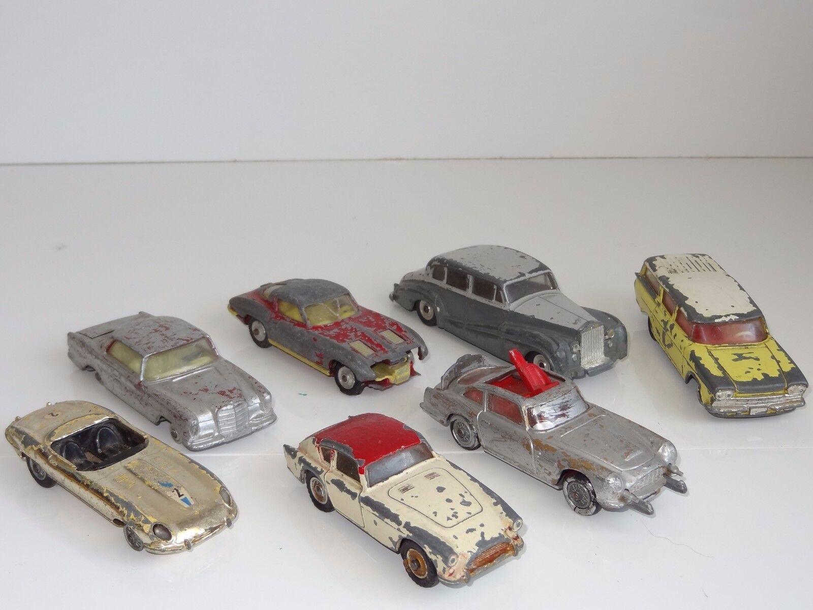 Corgi Dinky Lote de 7 Autos De James Bond scarpyard Aceca Jaguar Nash - 261