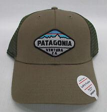 faa82e63ec6 Patagonia Mens Fitz Roy Crest LoPro Trucker Snapback Cap hat 38055 Ash Tan  for sale online