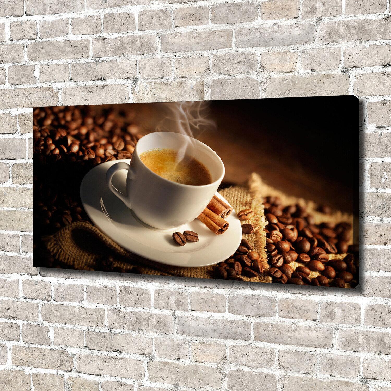 Leinwandbild Kunst-Druck 140x70 Bilder Essen & Getränke Tasse Kaffee