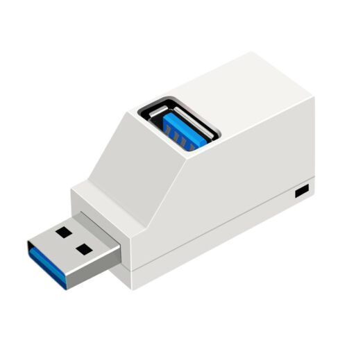 3 Port USB Hub Mini Portable 2.0//3.0 High Speed Hub Splitter Box for PC Laptop