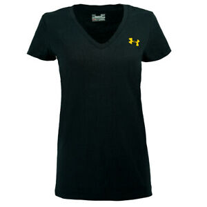 Under-Armour-Women-039-s-Charged-Cotton-V-Neck-T-Shirt