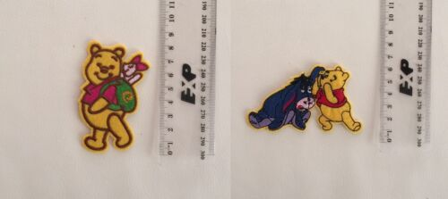 Pack of 2 Winnie the Pooh Patch Hot Ironon Transfer Sew On DIY