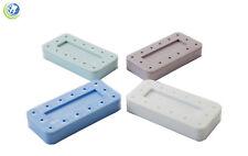 Dental Laboratory Rectangular Magnetic Fg Bur Block Holder Station Holds 14 Burs