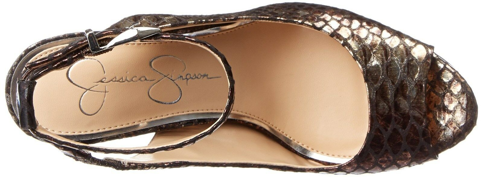 JESSICA SIMPSON CAREEN MULTI METALLIC METALLIC METALLIC SNAKE PRINT PLATFORM damen MULTIGröße AS 2bdadd