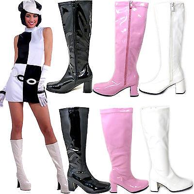 Pink Ladies Retro GoGo Boots