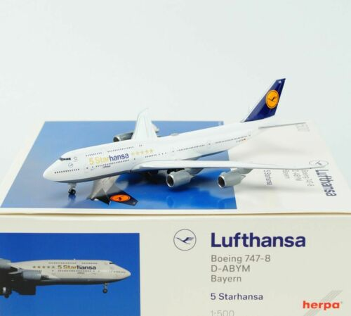 """nuevo Herpa 531504-1:500 lufthansa boeing 747-8 intercontinental /""""starhansa/"""""""