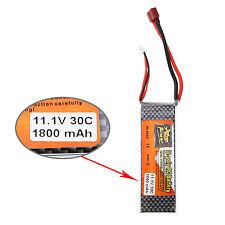 11.1V 1800mah 3S 30C Lipo Batterie T Stecker für RC Hubschrauber Auto Drohne
