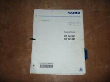 Wacker Neuson Rt 56 Sc Trench Roller Owner Operator Maintenance Manual