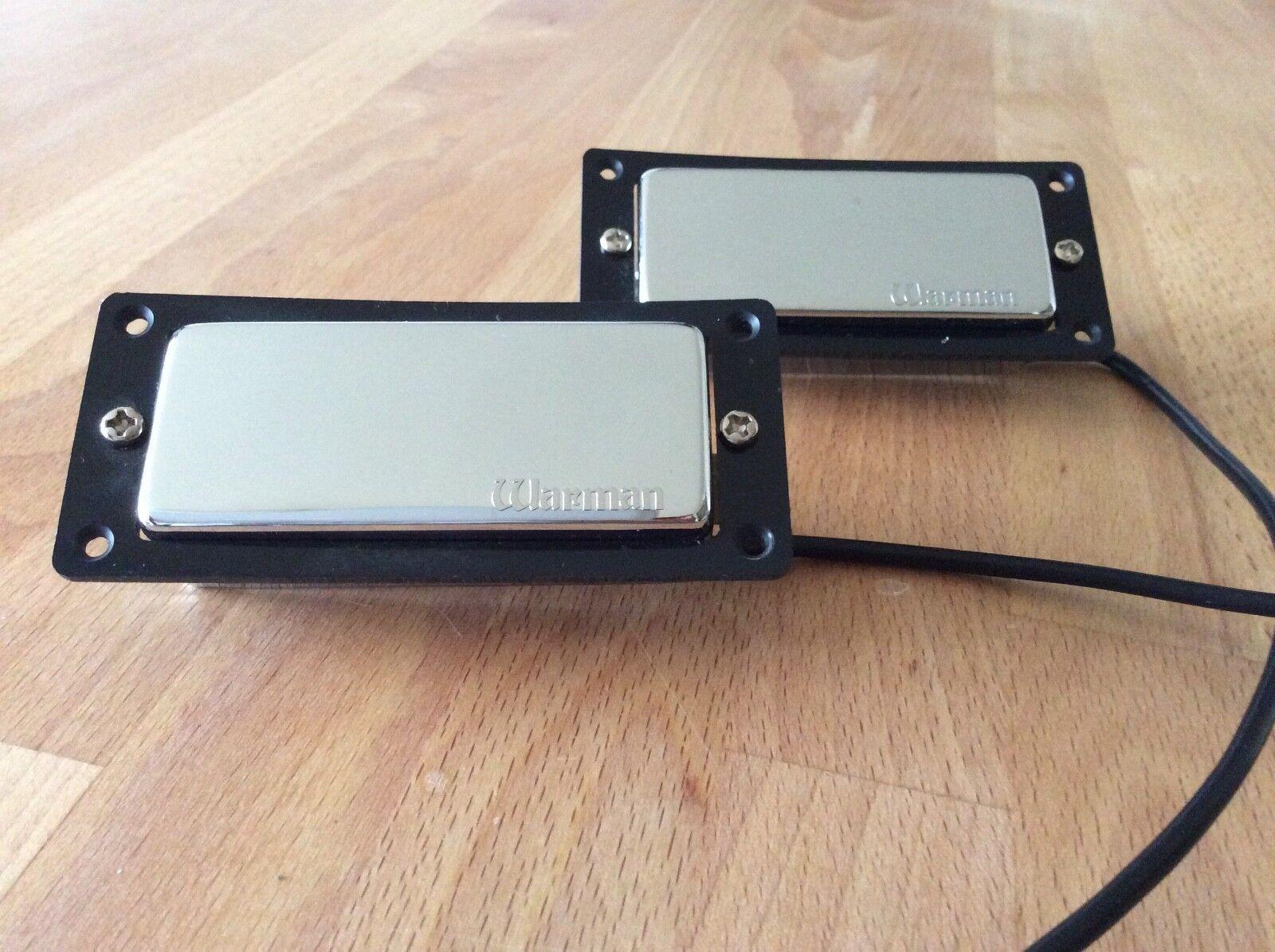 Warman FireBucker - Pair of Poleless Chrome Mini Humbuckers on