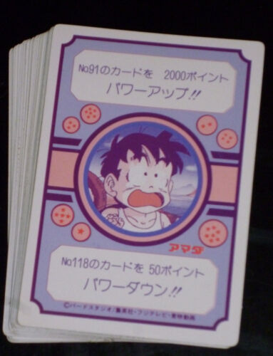 DRAGON BALL Z DBZ AMADA PP PART 3 CARD CARTE A L/'UNITE//CHOOSE FROM LIST 1989