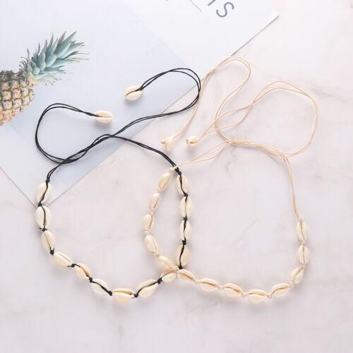 Women Bohemian Jewelry Shell Necklace Bib Choker Beach Seashell Chain Handmade
