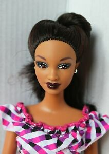 Barbie-Doll-African-American-So-in-Style-Trichelle-Articulated-Arms-Redressed
