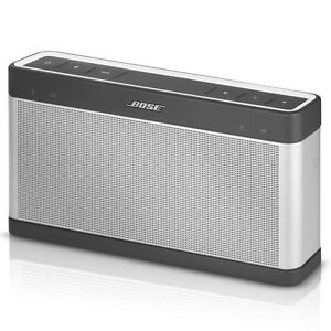 bose soundlink iii bluetooth speaker silver new open box 17817613927 ebay. Black Bedroom Furniture Sets. Home Design Ideas