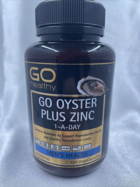 GO Healthy GO Oyster Plus Zinc 1-A-Day 120 Vege Capsules Expired 05/2021