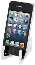 Universal Mobiltelefon Tablet Smartphone Dünn Stand Halter Plastik Faltbar Weiß