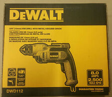 DeWALT DWD112 8.0 Amp 3/8-Inch VSR Pistol-Grip Drill Keyless All-Metal Chuck NEW