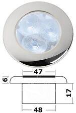 Osculati IP66 Watertight Polished SS 3x0.3W White + 3 RGB LEDs Ambient Light 12V