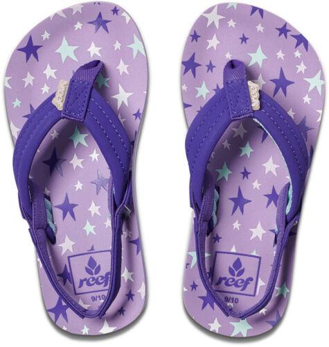 Reef Little Ahi Flip Flops in Purple Stars