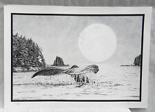 Whale - Signed and Numbered Limited Edition Print - M Hodge 1996